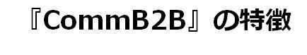 『CommB2B』の特徴